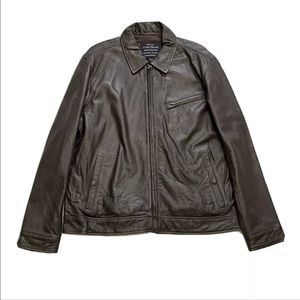 Lucky Brand Authentic Motorcycle Leather Jacket
